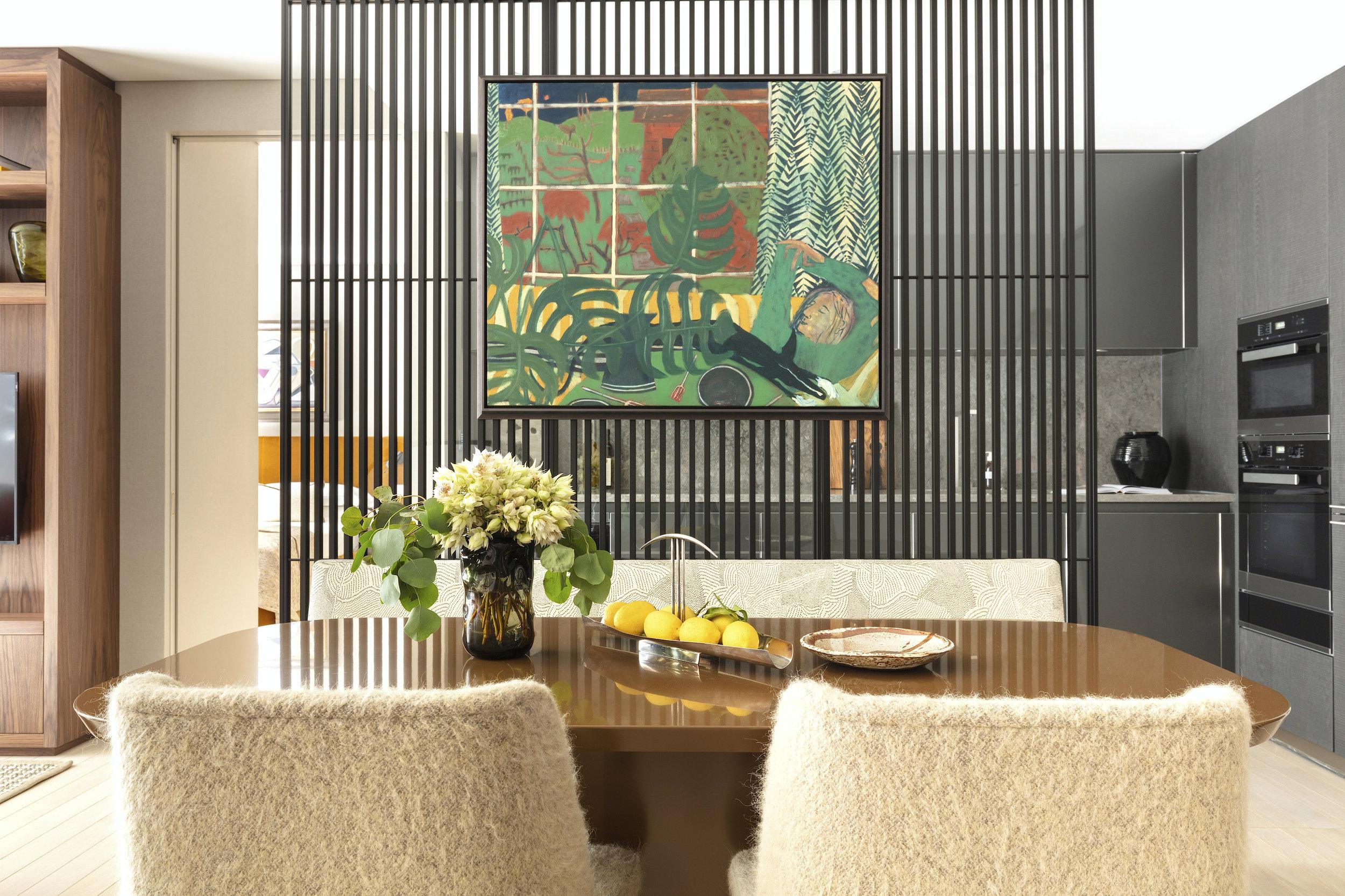 Burlington Gate | London   Dining Room - Oil Painting on Canvas      Interior Design & Architecture: Hudson & Mercer