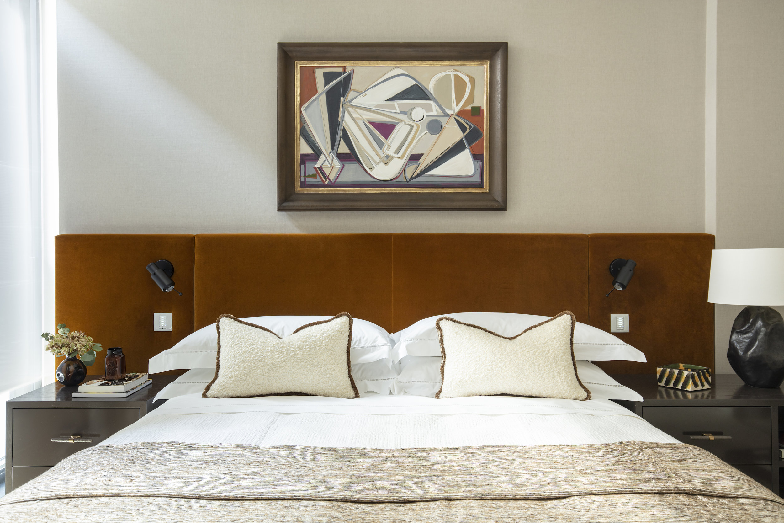 Burlington Gate | London   Master Bedroom - Oil Painting on Canvas      Interior Design & Architecture: Hudson & Mercer