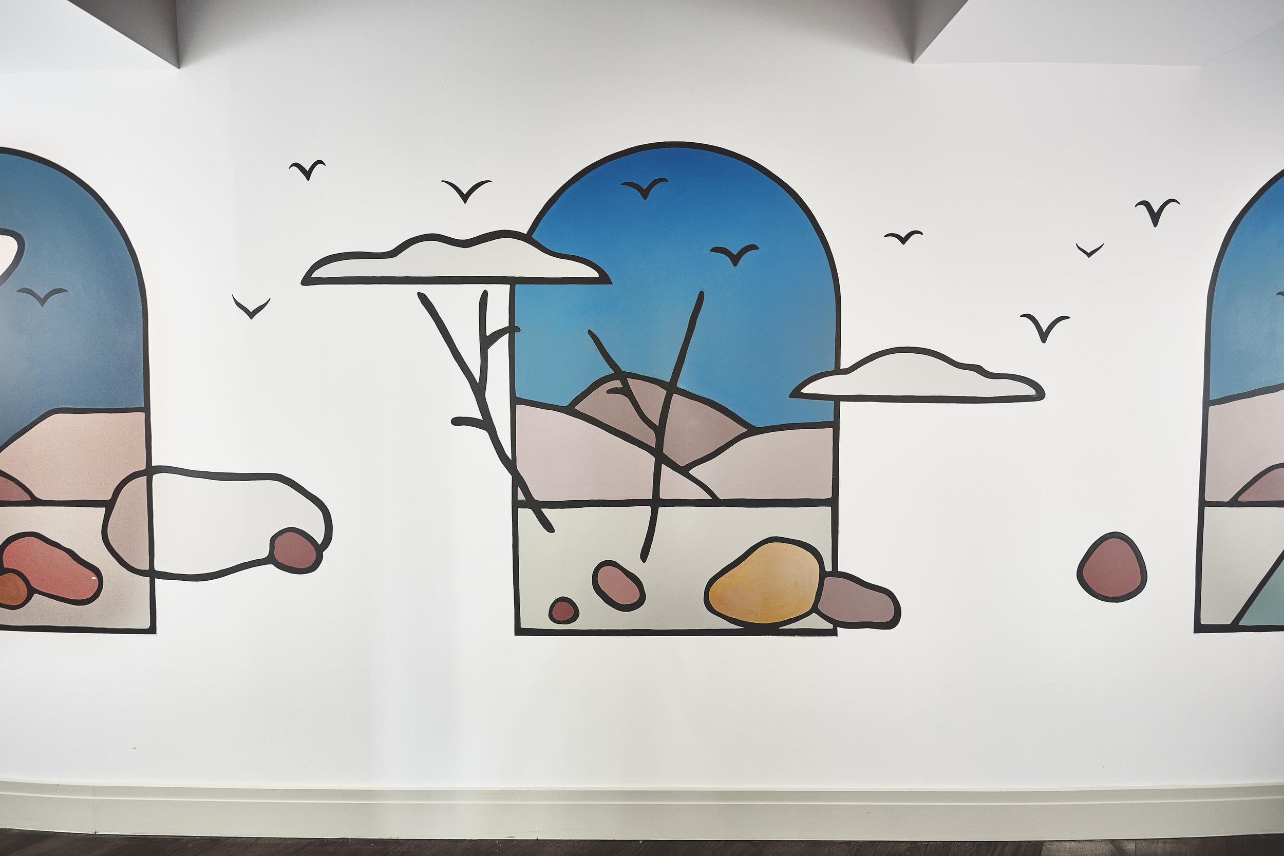 The Hoxton | Southwark   Apartment Corridor - Wall Mural    