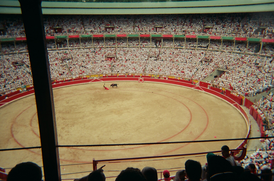 Photo I took later that day at the bullfight.