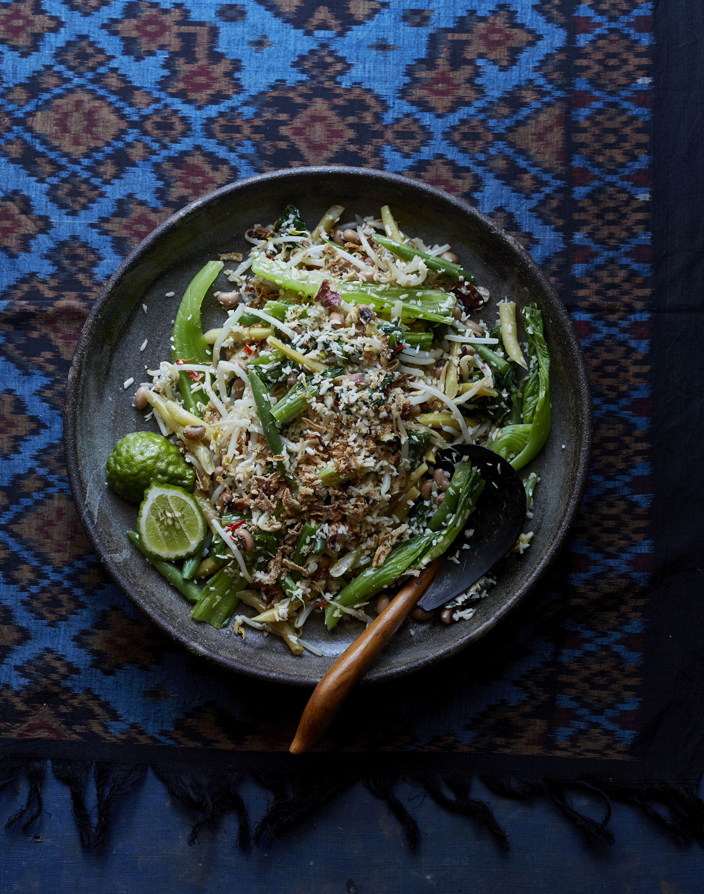 Vegetable Urap - with fresh spiced coconut