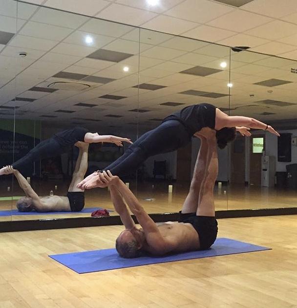 A little acro yoga - so much fun!