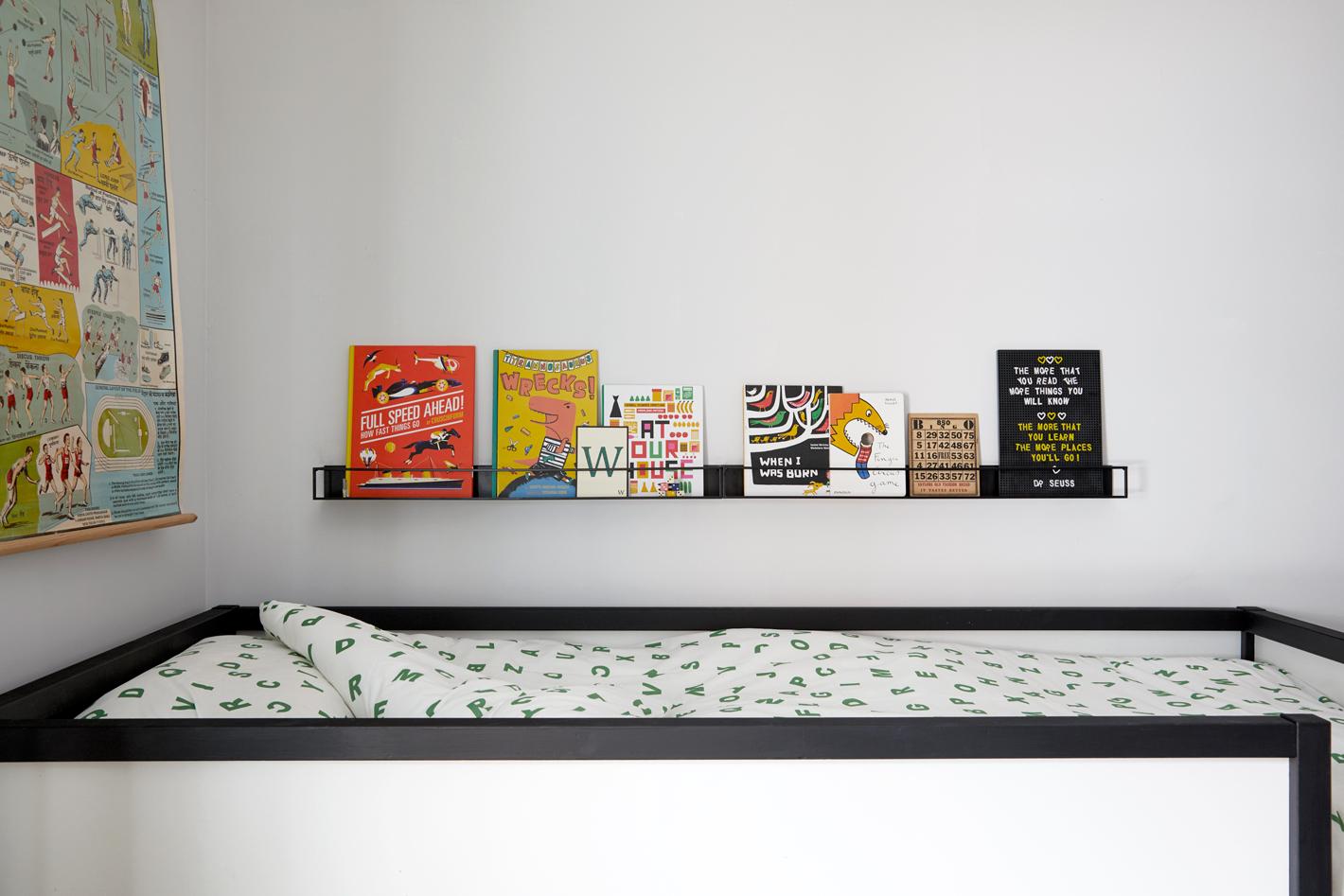 bunk bed book ledges