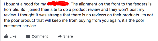 Maybe you didn't see this, but hundreds of your other customers did. Whether the complaint is valid or not, nobody responded to make it right.