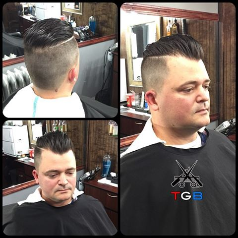 Fresh work from Tj at The Gentlemen's Barber Shop. Showing his clipper and scissor skills, crafting this great Disconnected Pompadour, with a hard razor part and clean fade. Style with Layrite Superhold Deluxe Pomade! Amazing work TJ we're so glad to have you as part of the Team!  Book an appointment with TJ or our other amazing barbers - Download our free App on Android & Apple devices: http://thegentlemensbarber.mobapp.at - Book online at http://thegentlemensbarber.com/  Experience your barber, redefined! #barber #barbercut #barberpole #haircut #hairstyle #rochester #roc #barbershop #barberpride #mensgrooming #fade #razored