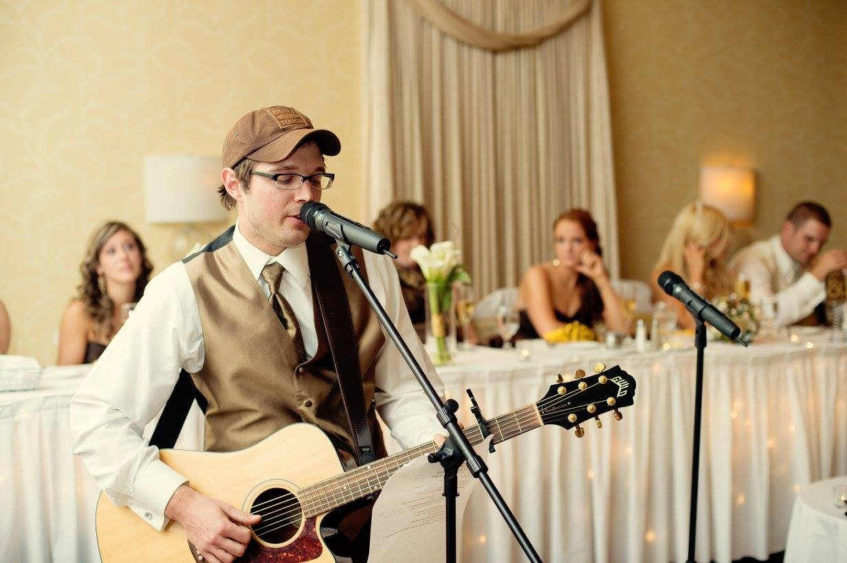 Playing my best man 'speech' that sparked the idea for PutThemInASong