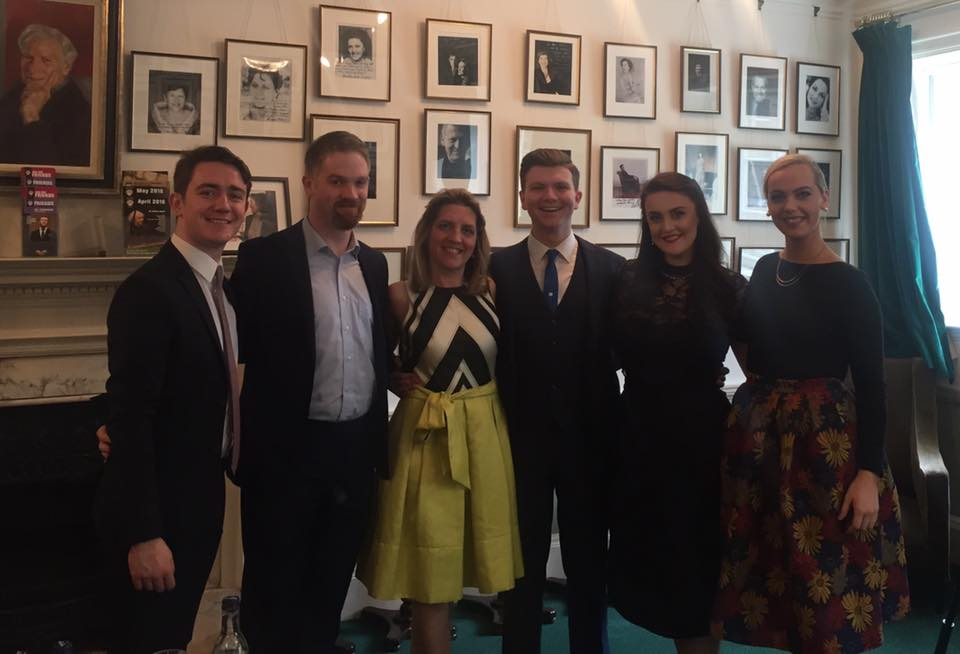 Sean Boylan, Eoin Conway, Dearbhla Collins, Andrew Gavin, Sarah Brady and Niamh O'Sullivan