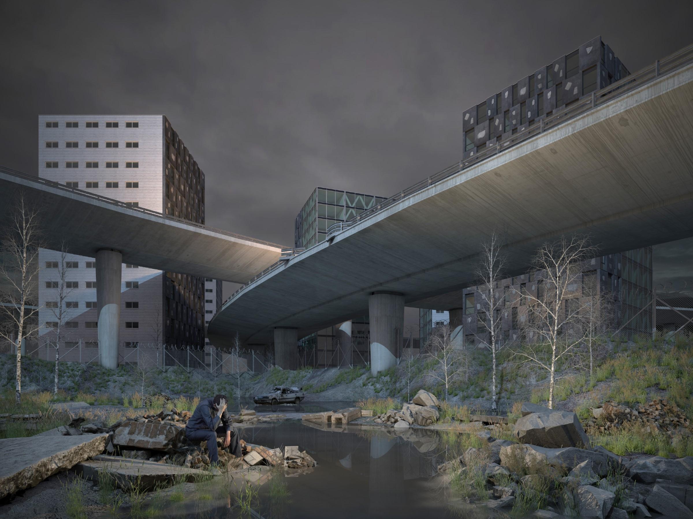concrete island, 2018 (160cmx120cm) dibond