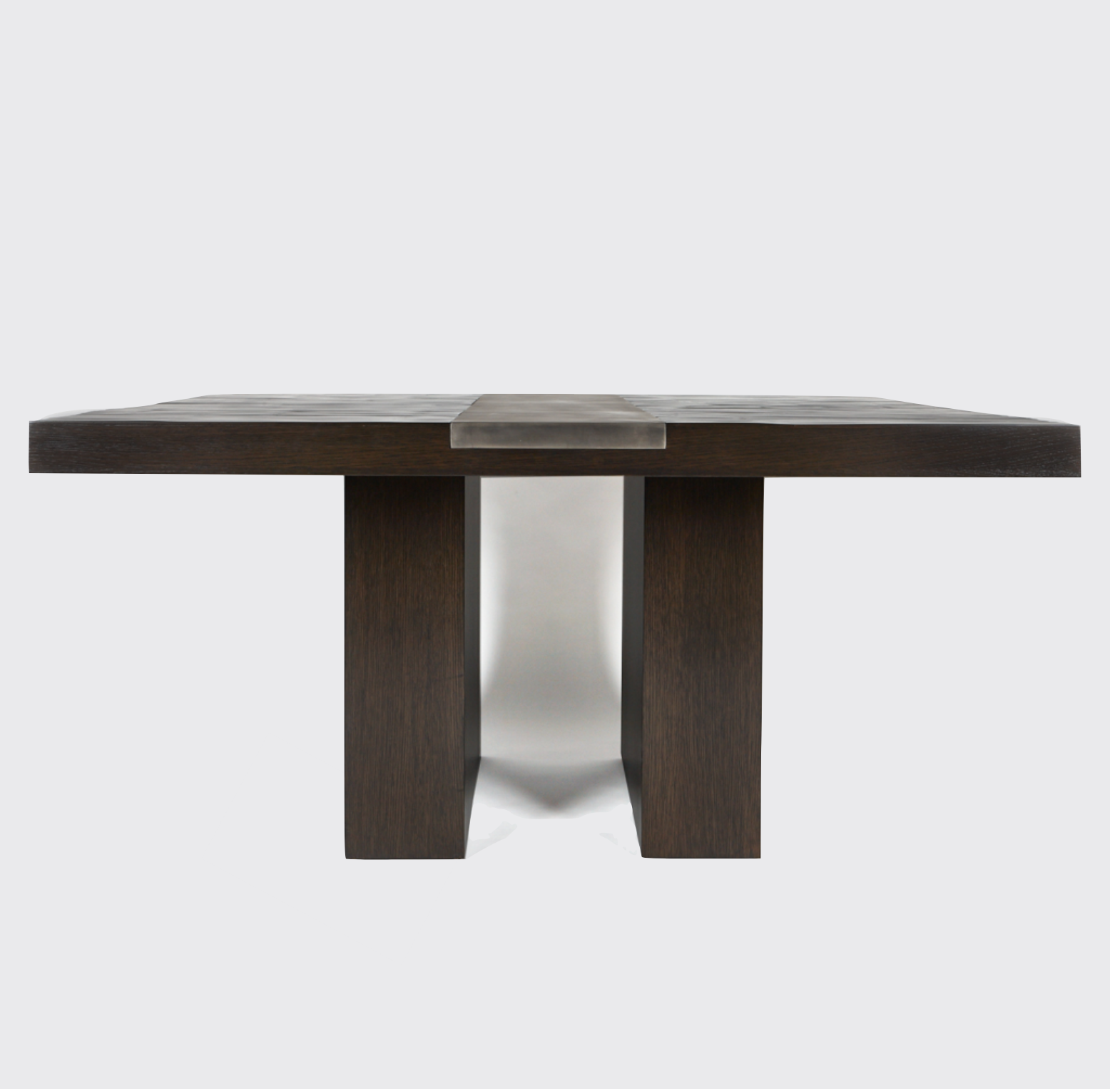 Aguirre Design - Bamboo, Blackened Steel and Oak Square Dining Table