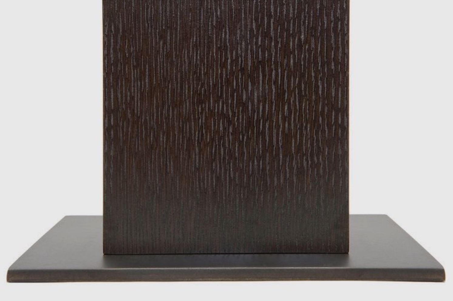 Aguirre Design - Kampai Side Table - Cast bronze, Oak and Brass.