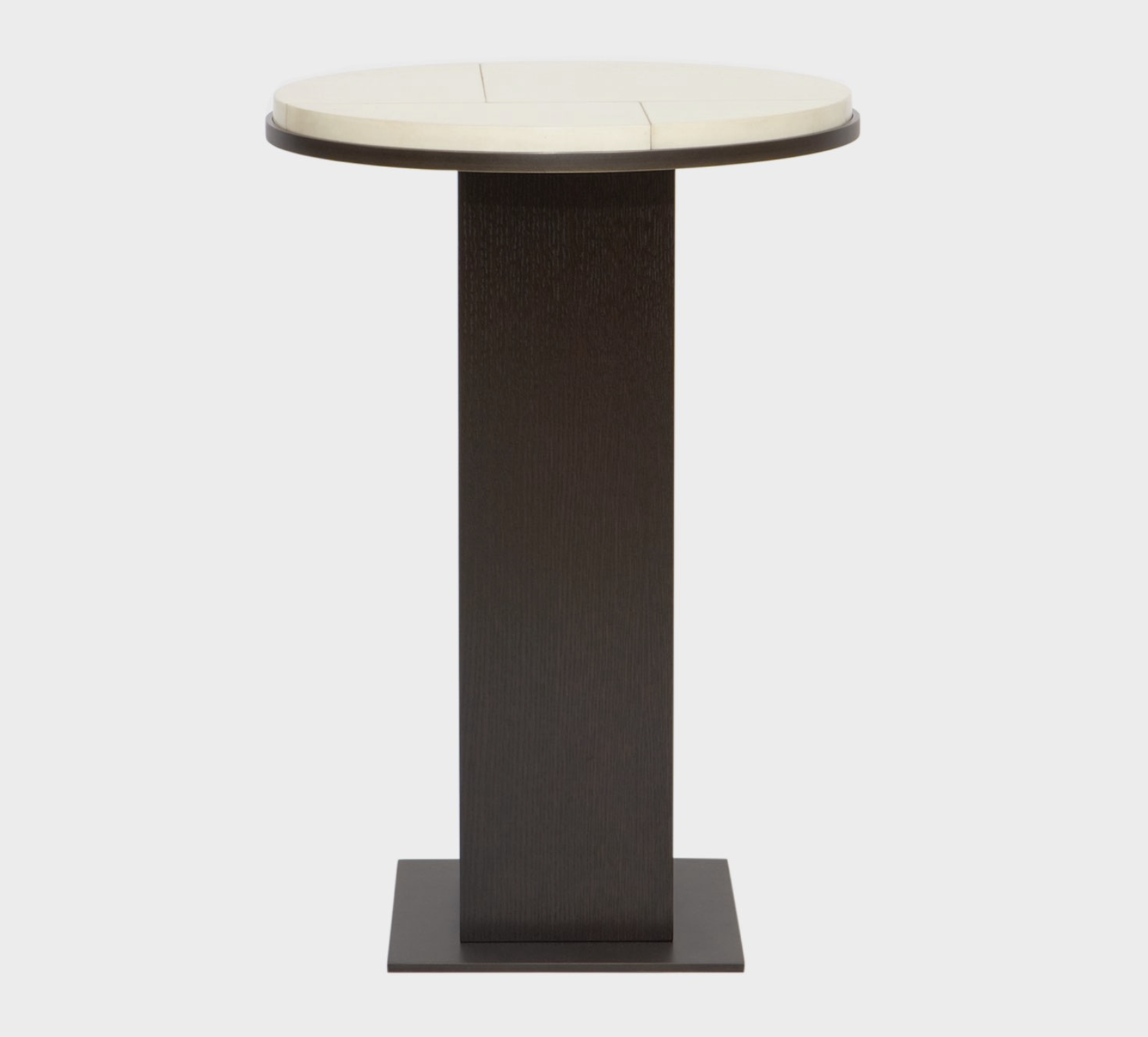 Aguirre Design - Go Side Table - Parchment, brass and Oak