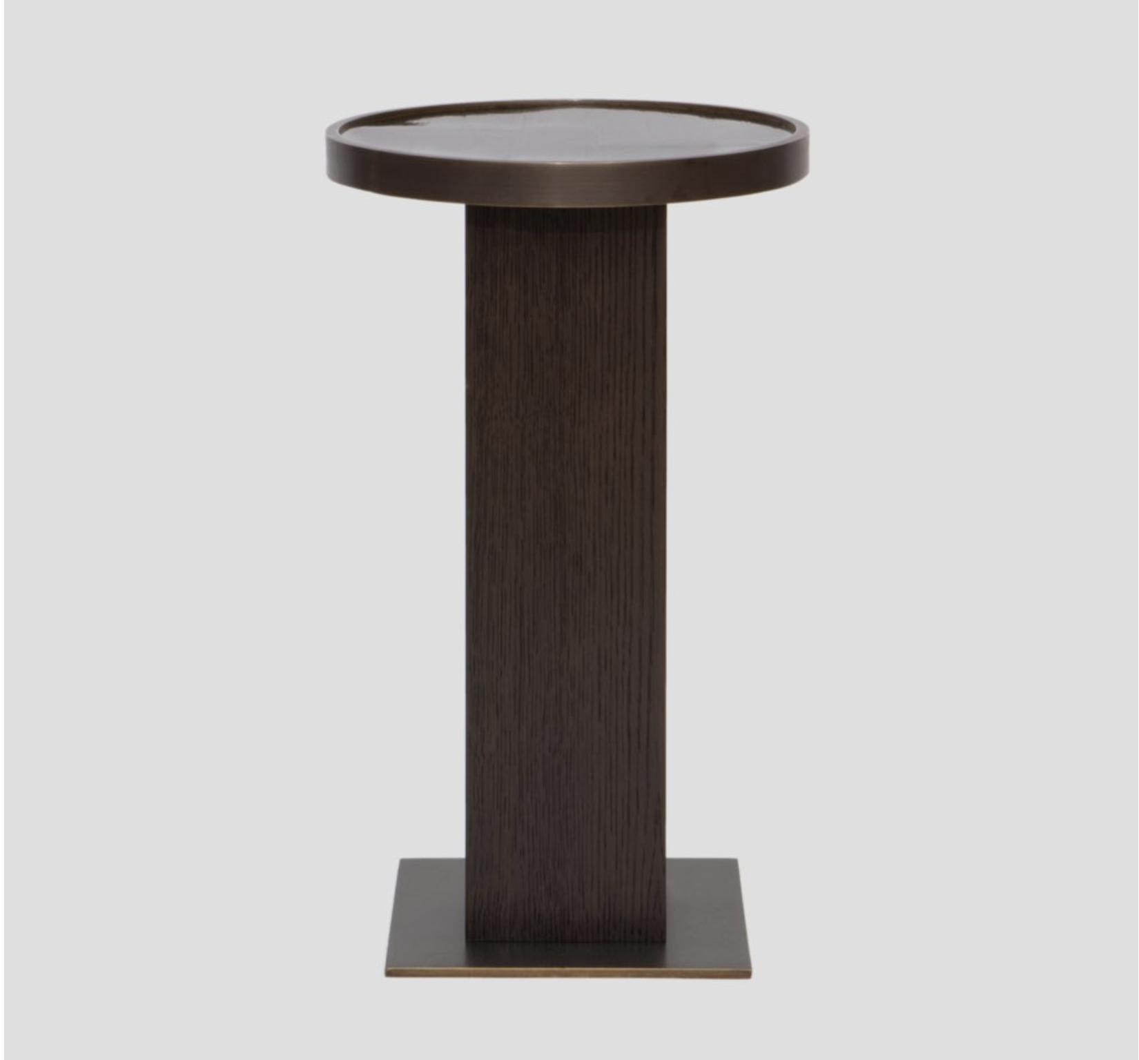Aguirre Design - Moka Side Table - Bamboo, Brass and Oak