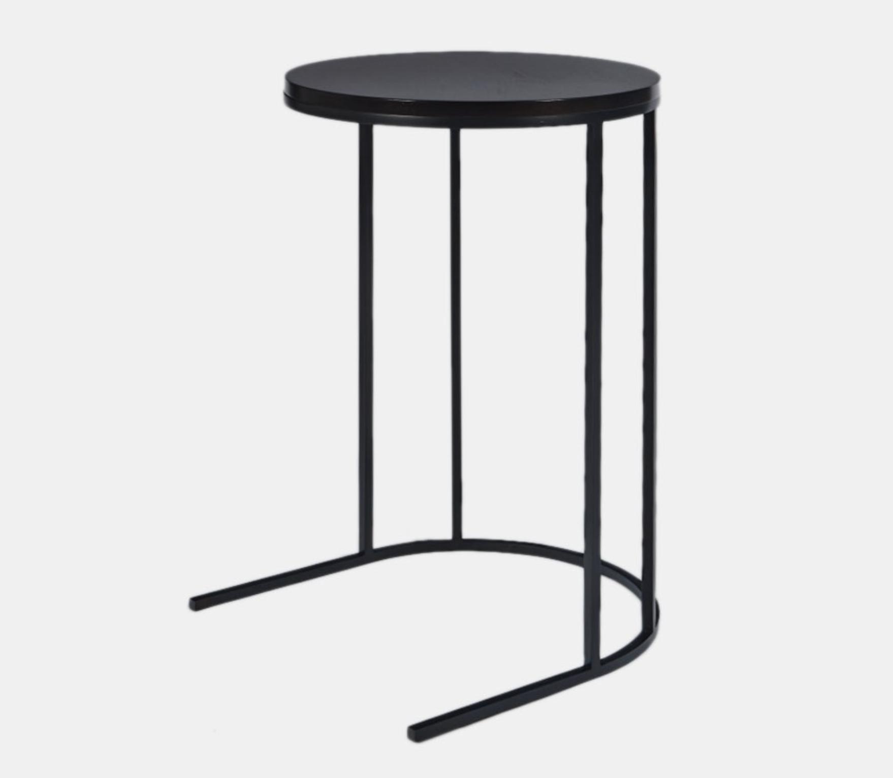 Aguirre Design - Jisu Side Table - Walnut and Blackened Steel