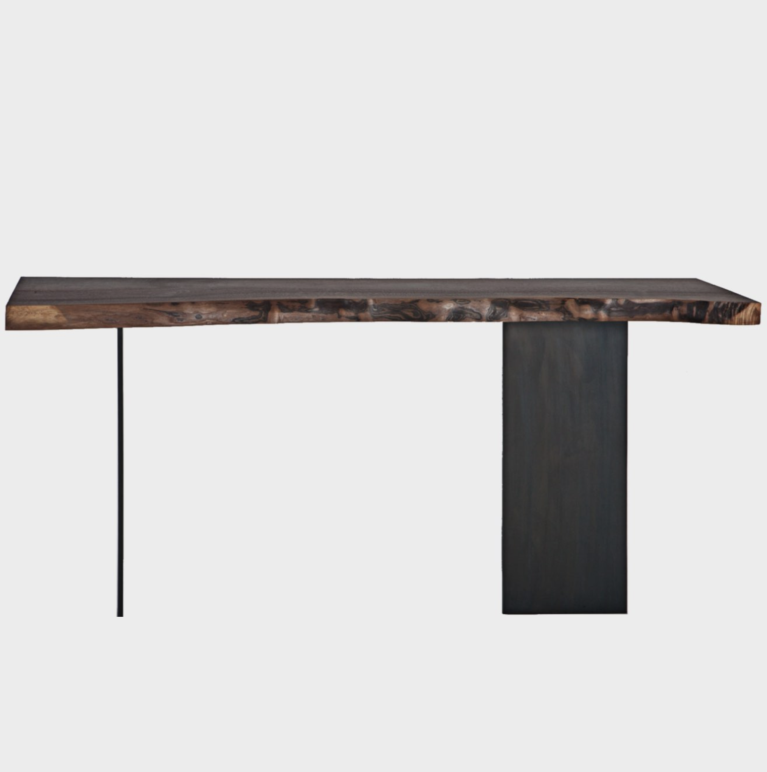 Aguirre Design - Walnut and Blackened Steel Console