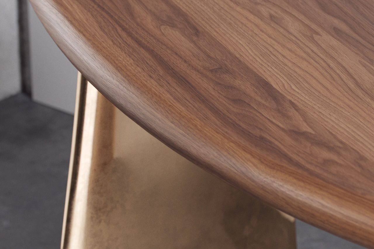Malta Dining Table - Bamboo and Blackened Steel