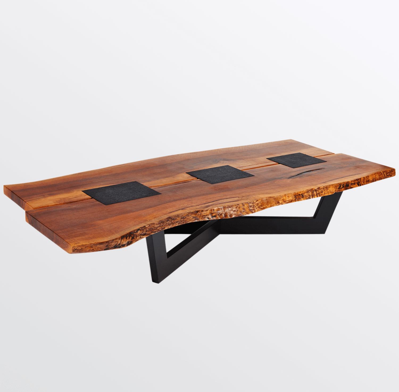 Aguirre Design - Unique Walnut and Granite Coffee Table