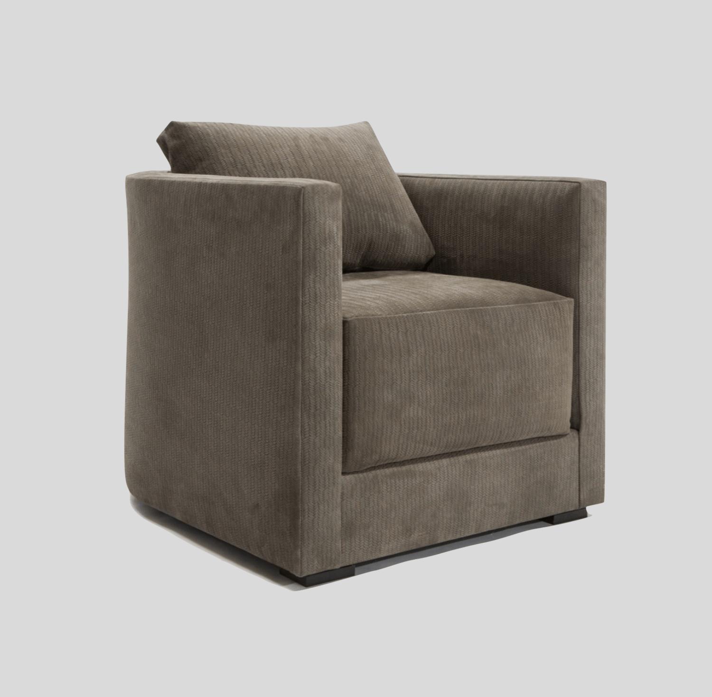 Aguirre Design - Modern Leather Club Chair
