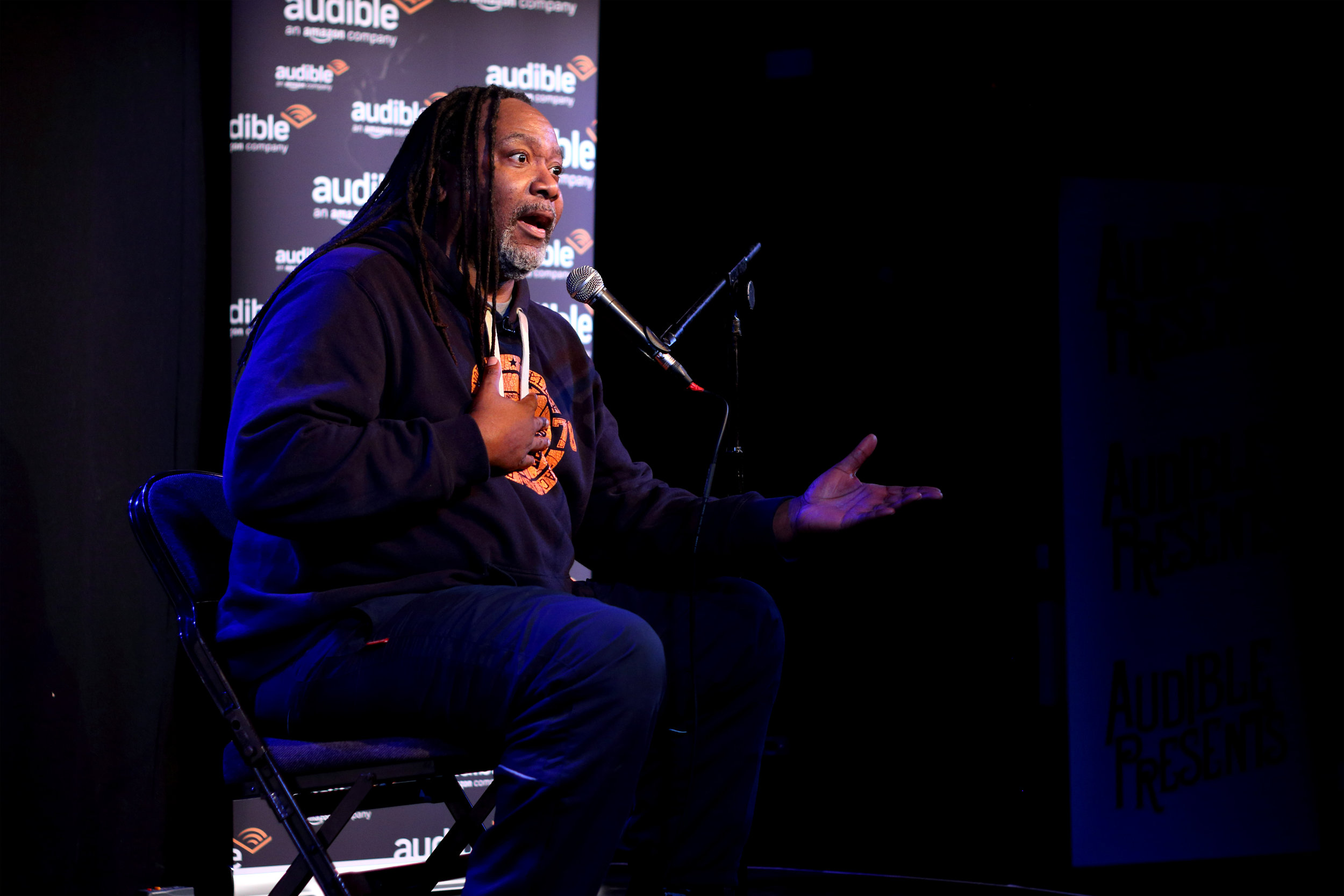 Reginald D Hunter, Audible Presents. Photo: Sarah Breese
