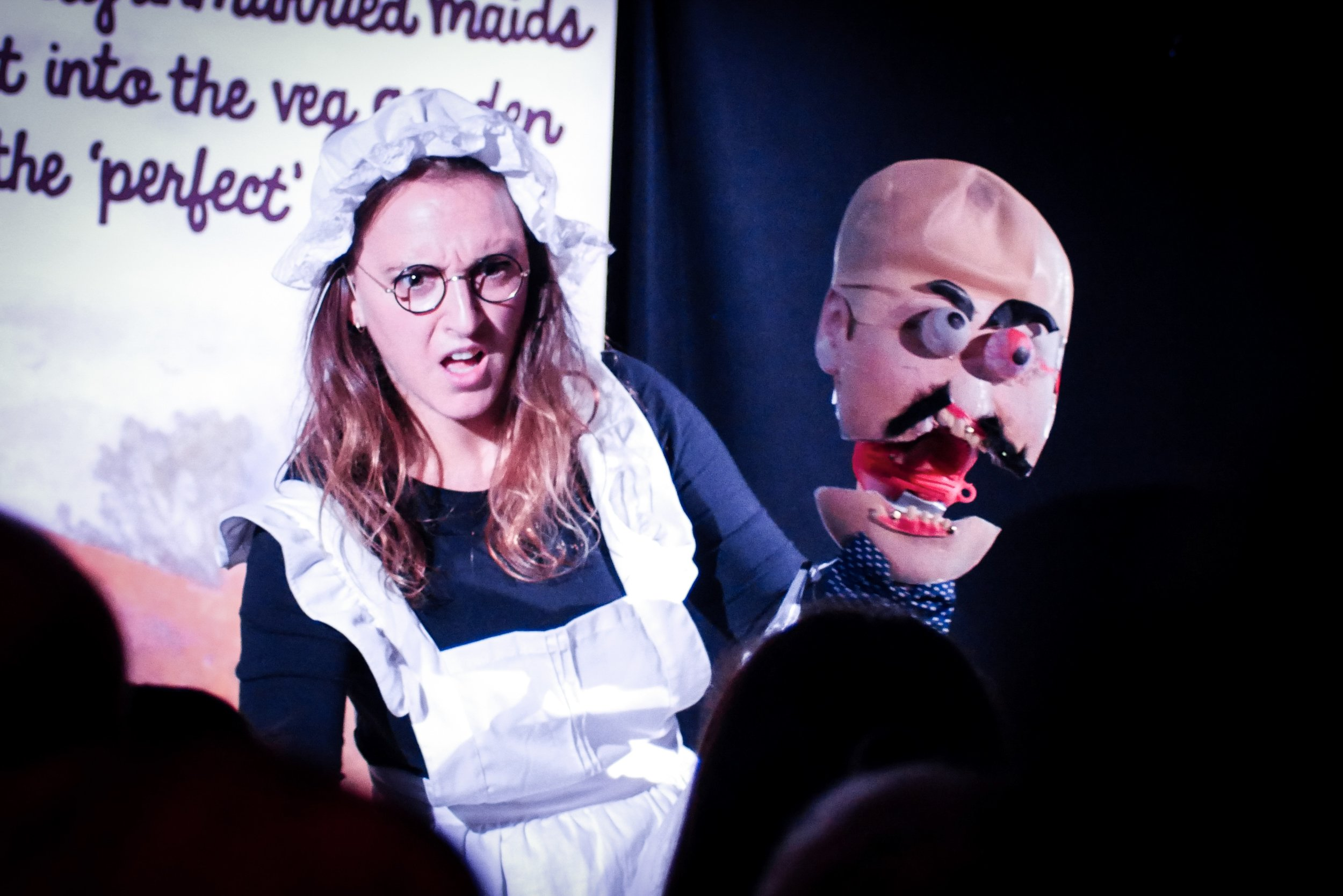 Lucy Pearman: Maid of Cabbage, Edinburgh Fringe. Photo: Matthew Highton