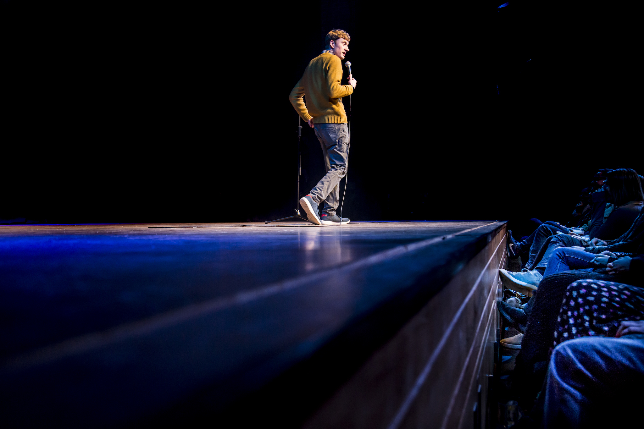 James Acaster,Plosive Comedy in Dulwich. Photo: Rob Greig