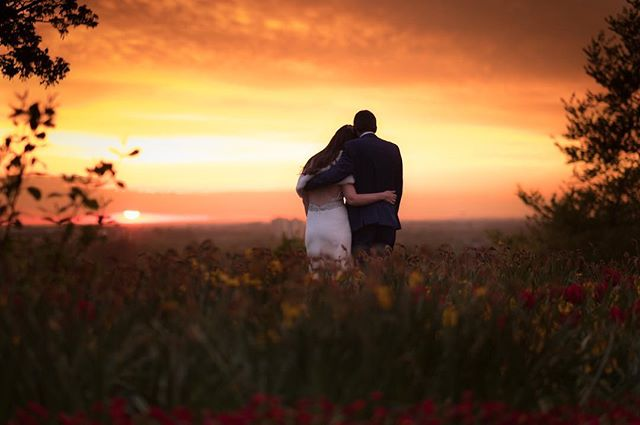 Sometimes After a morning of rain a wonderful couple can be blessed with the perfect sunset here in Richmond  #richmondwedding #london