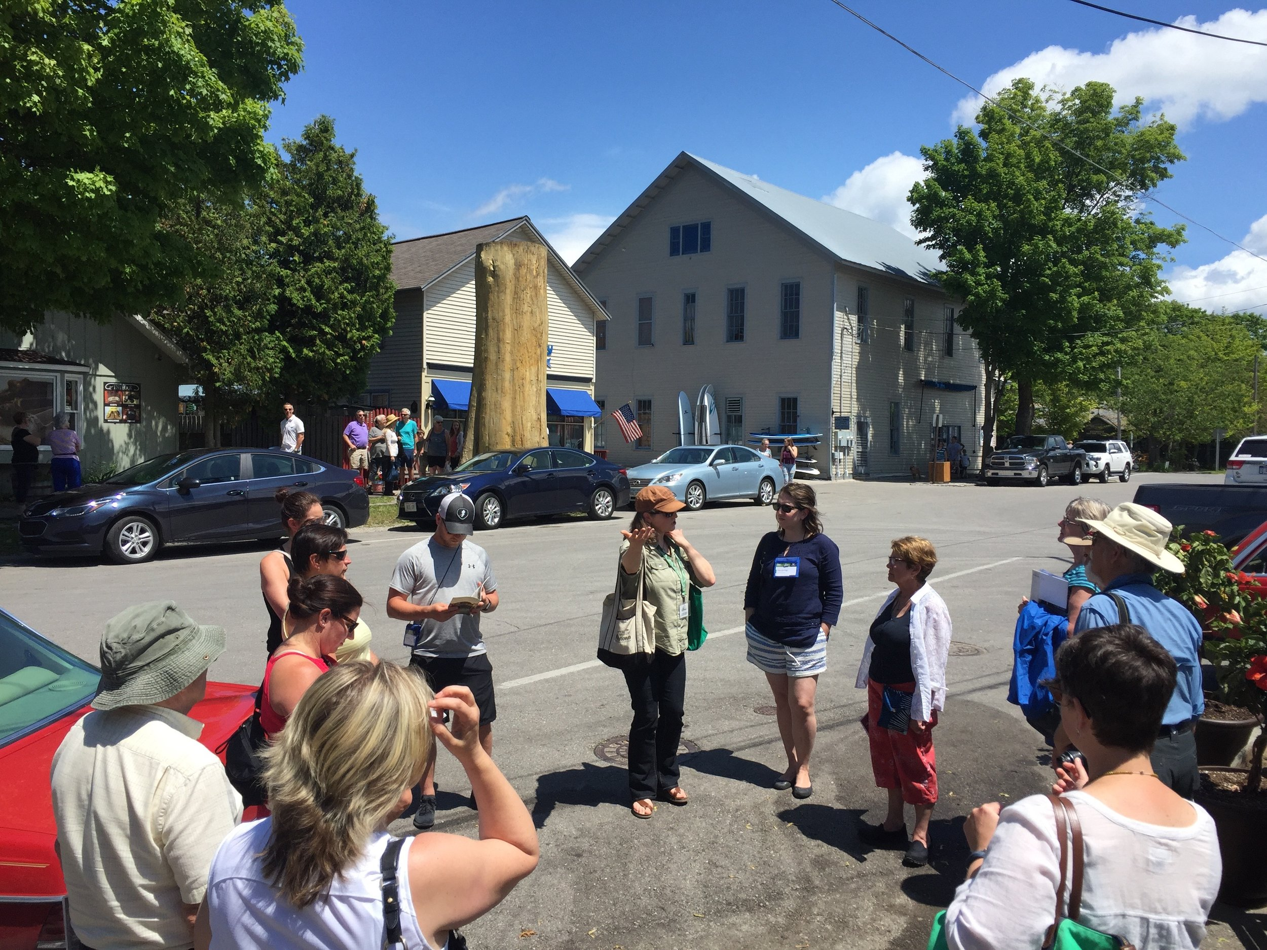 In Leland, MI, the group learns from the Amanda Holmes, Executive Director of  Fishtown Preservation , a non-profit group dedicated to preserving the built and natural assets of this unique harbor community.