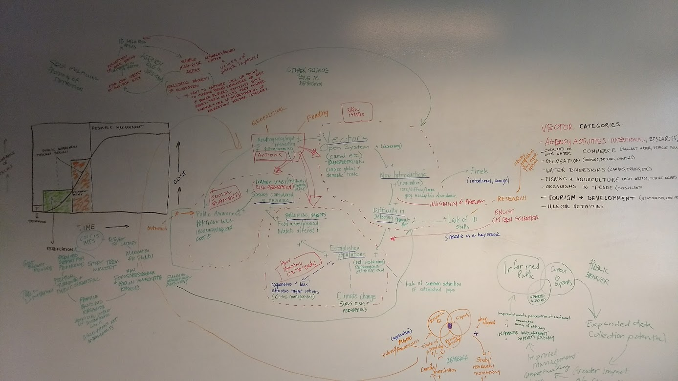 The result of a team workshop that describes the complexity of this issue.