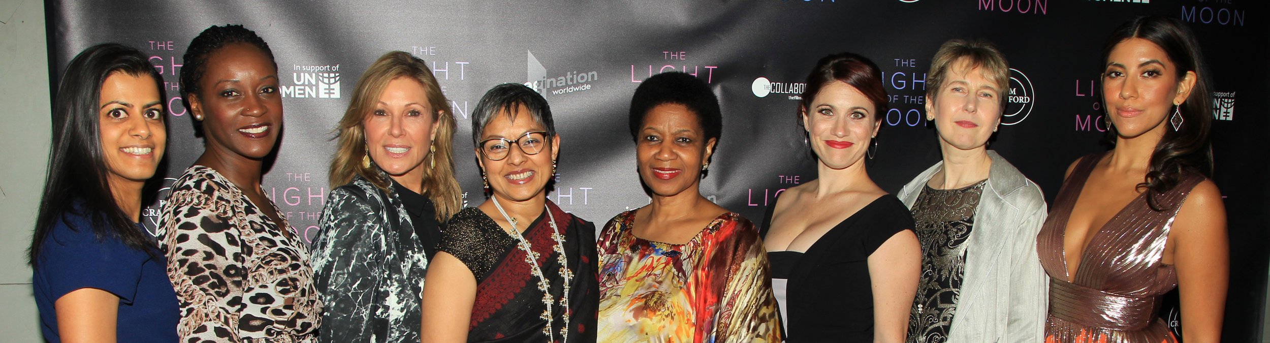 Writer-director, Jessica M. Thompson,lead actress, Stephanie Beatriz, and producer, Maria Cuomo Cole, with Executive Director,  Phumzile Mlambo-Ngcuka  , and other staff members of UN Women at the premiere of  'The Light of the Moon'  in New York City.