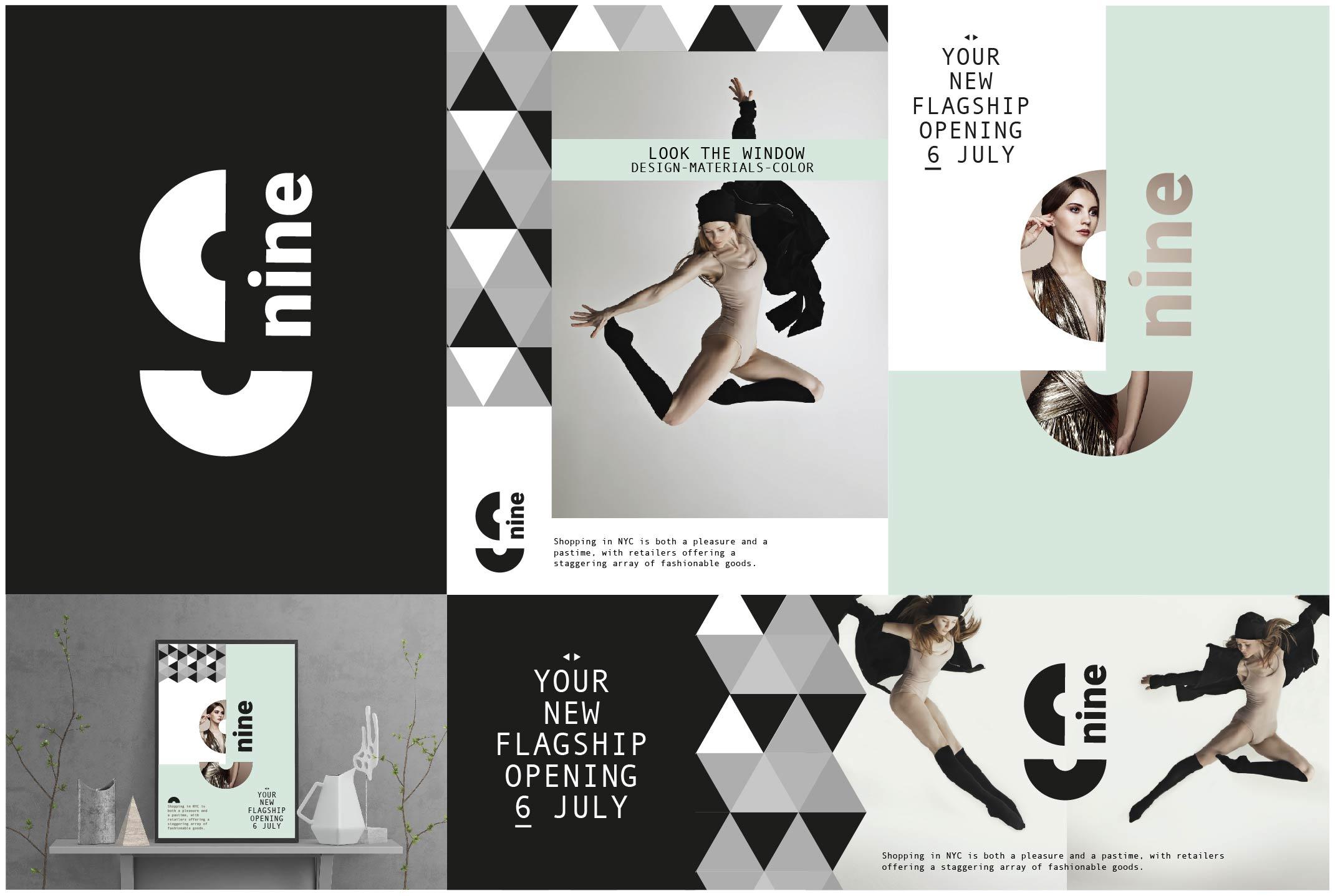 Nine - Brand Identity - Collaterals