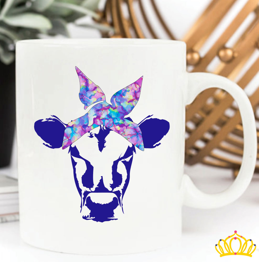 Cow with Bandana Decal