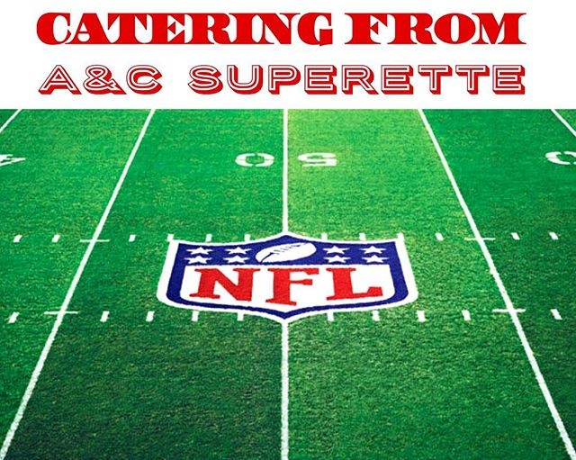 What are you serving this #GameDay??? Don't forget to place your catering order in time for the #BigGame!! 🏈🏈🏈 #AandCSuperette #catering #grocery #Italian #food #delicious #StatenIsland #NY #boarshead #italianspecialties #localproduce #freshmozzarella #preparedfoods #deli #superette