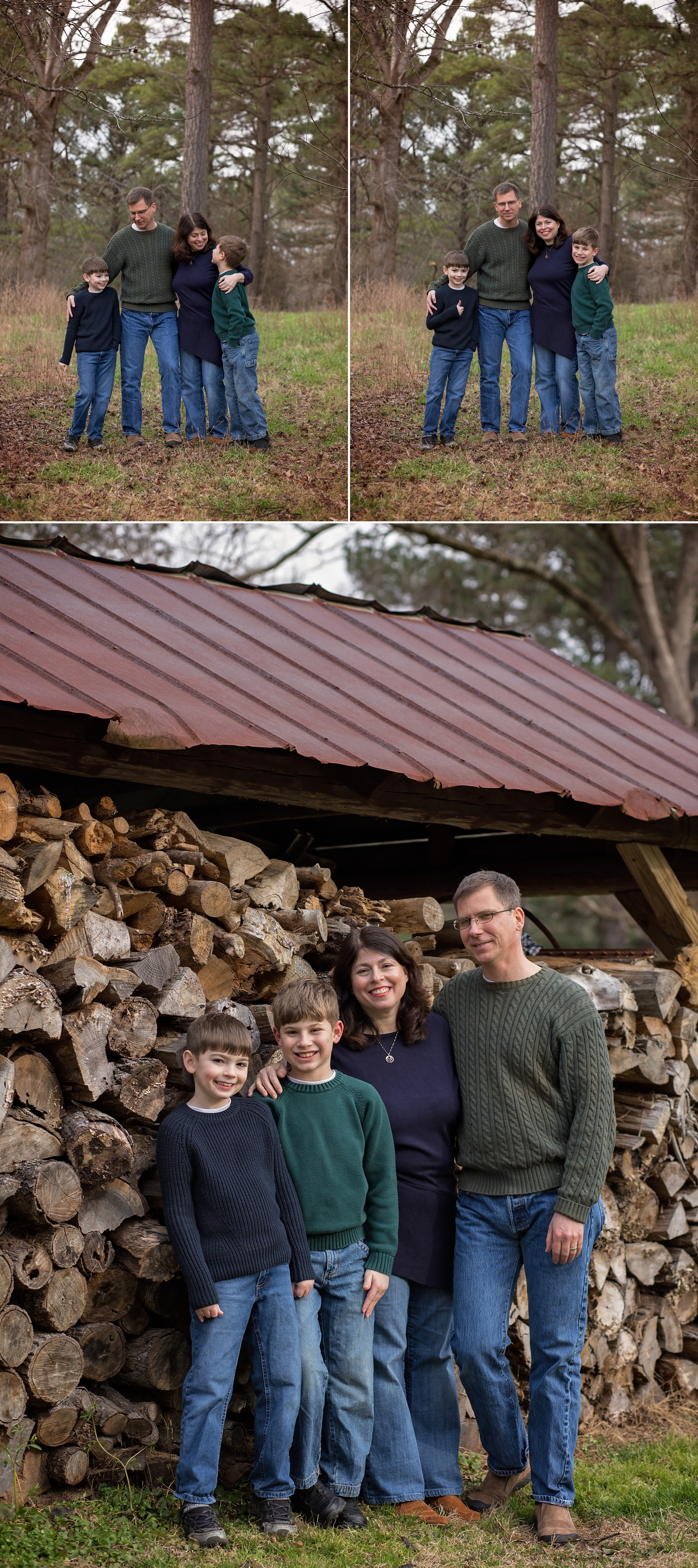 Beautiful family portrait is captured by Sanford NC photographer.