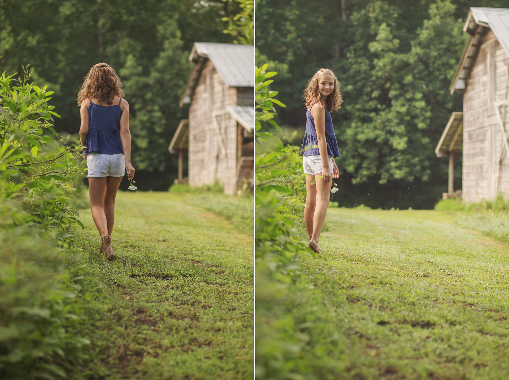Child walks away from Candace Wolfenbarger, Sanford NC child photographer.