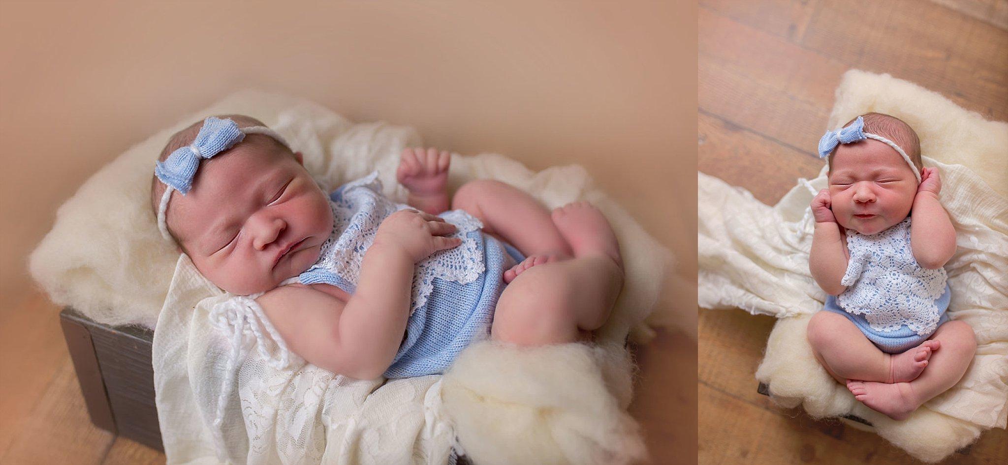 Candace Wolfenbarger photographs newborn scrunching.