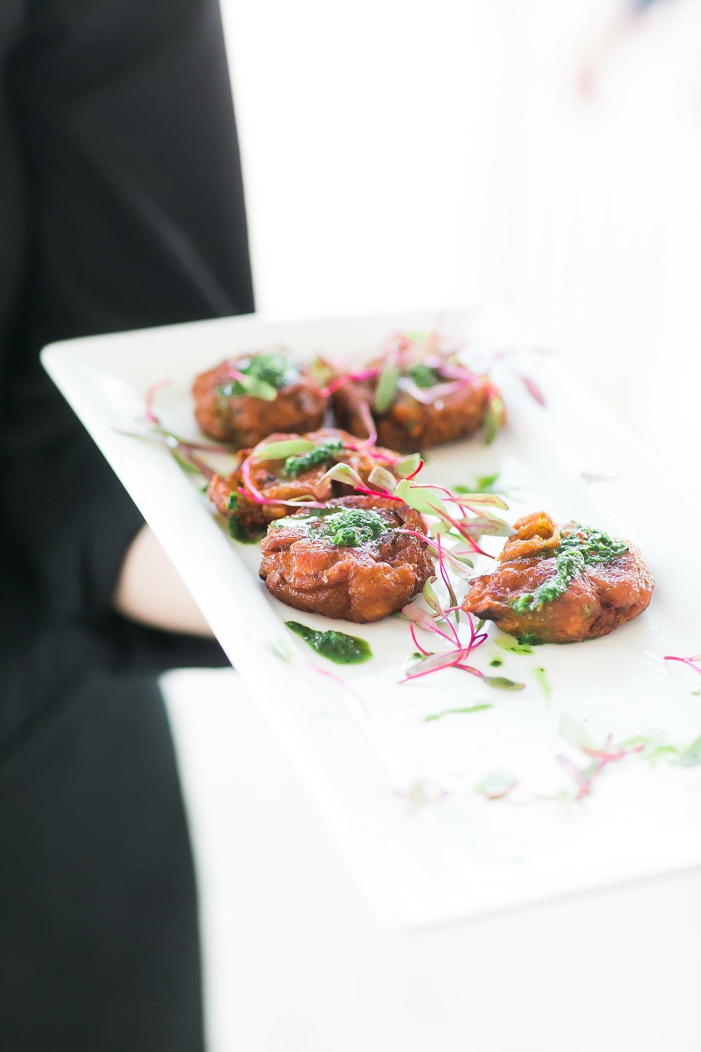 Sweet Potato Fritters with Herb Puree