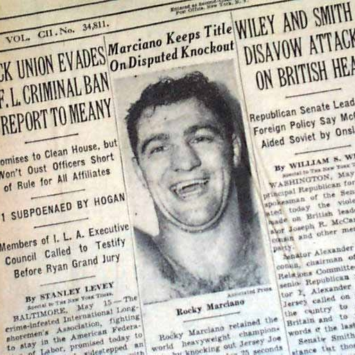 Front page of the New York Times, May 16, 1953.