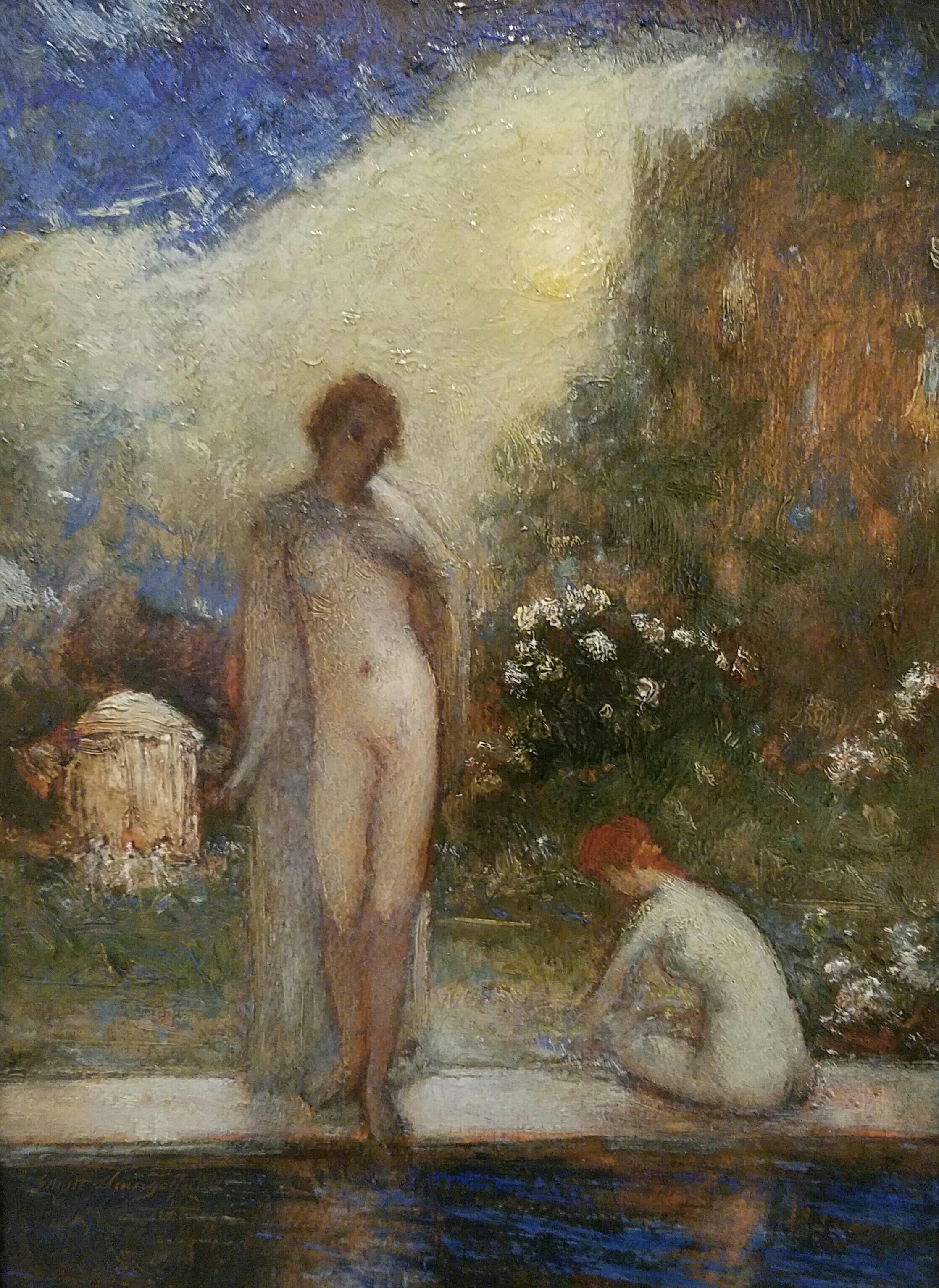 Marjorie and Gwendoline in the Garden *