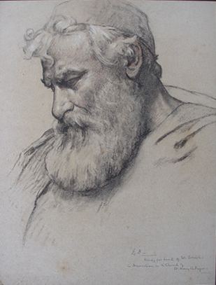 Study for the head of St. Joseph *