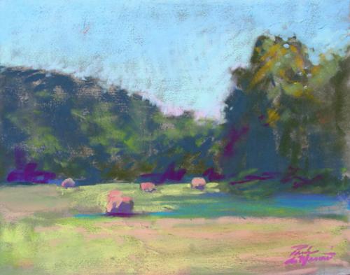 Sunset Hay Bales