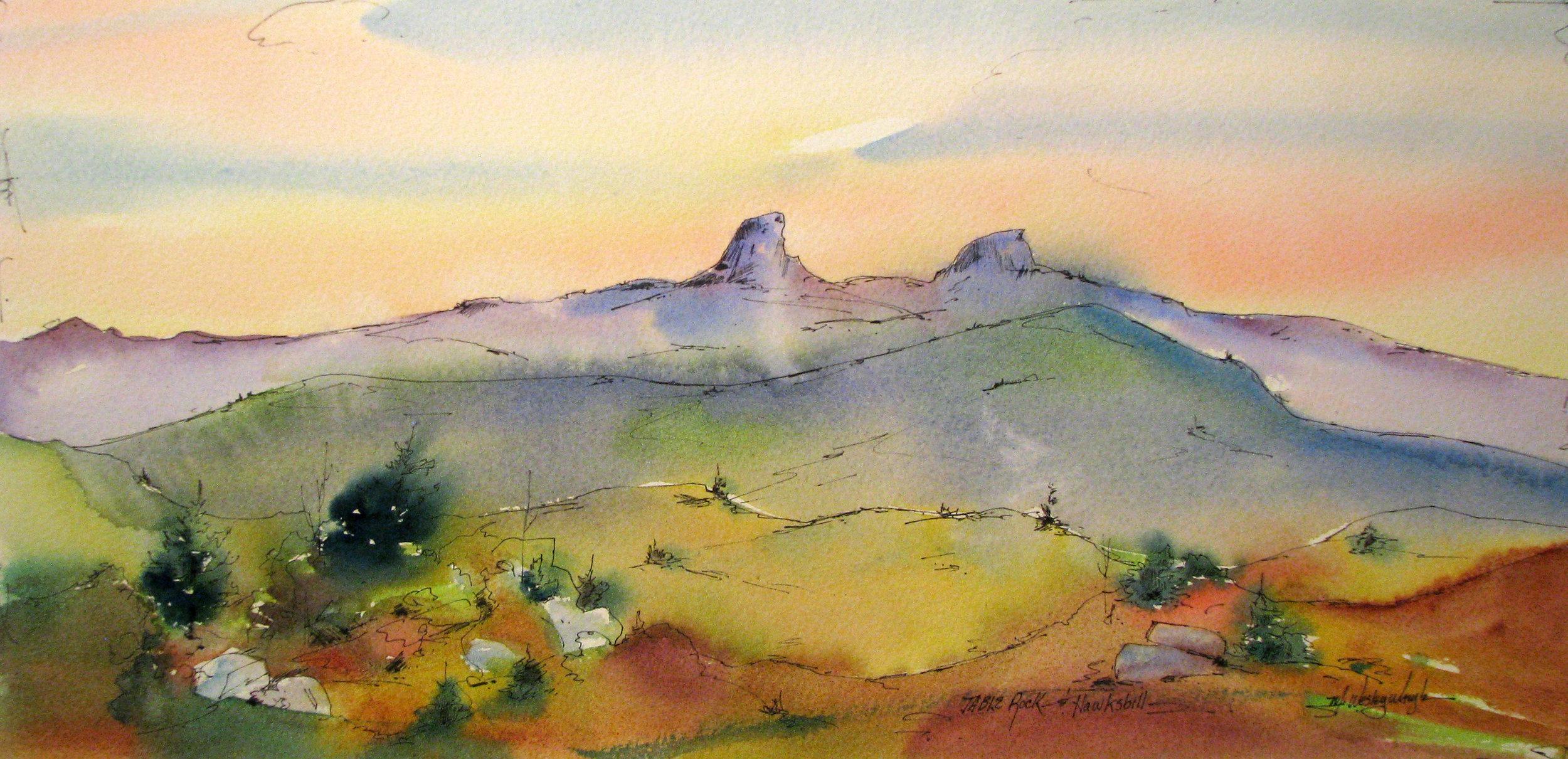 Table Rock and Hawksbill (light) *