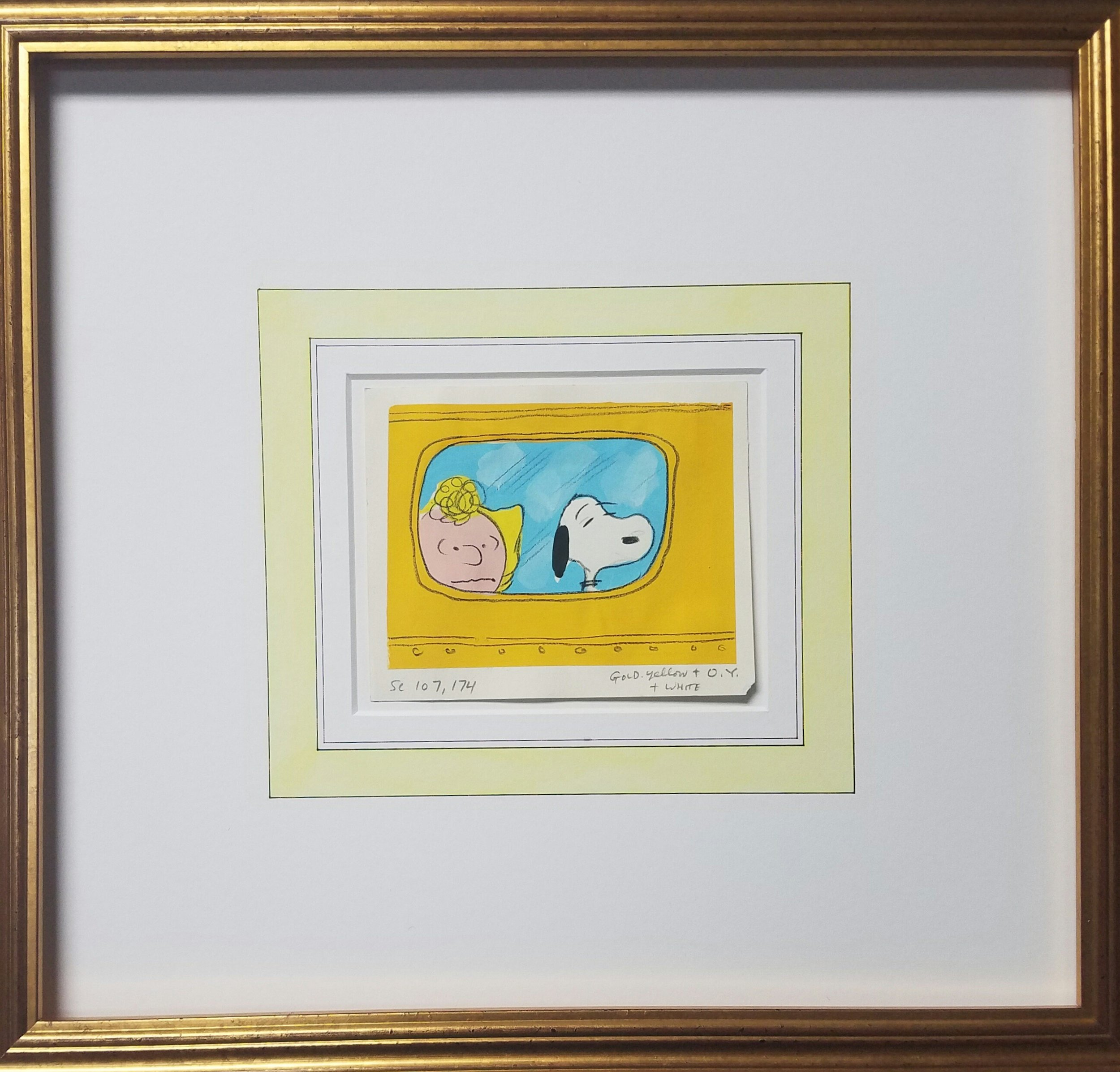 These are india ink panels, french lines, and original color stills from the Peanuts!
