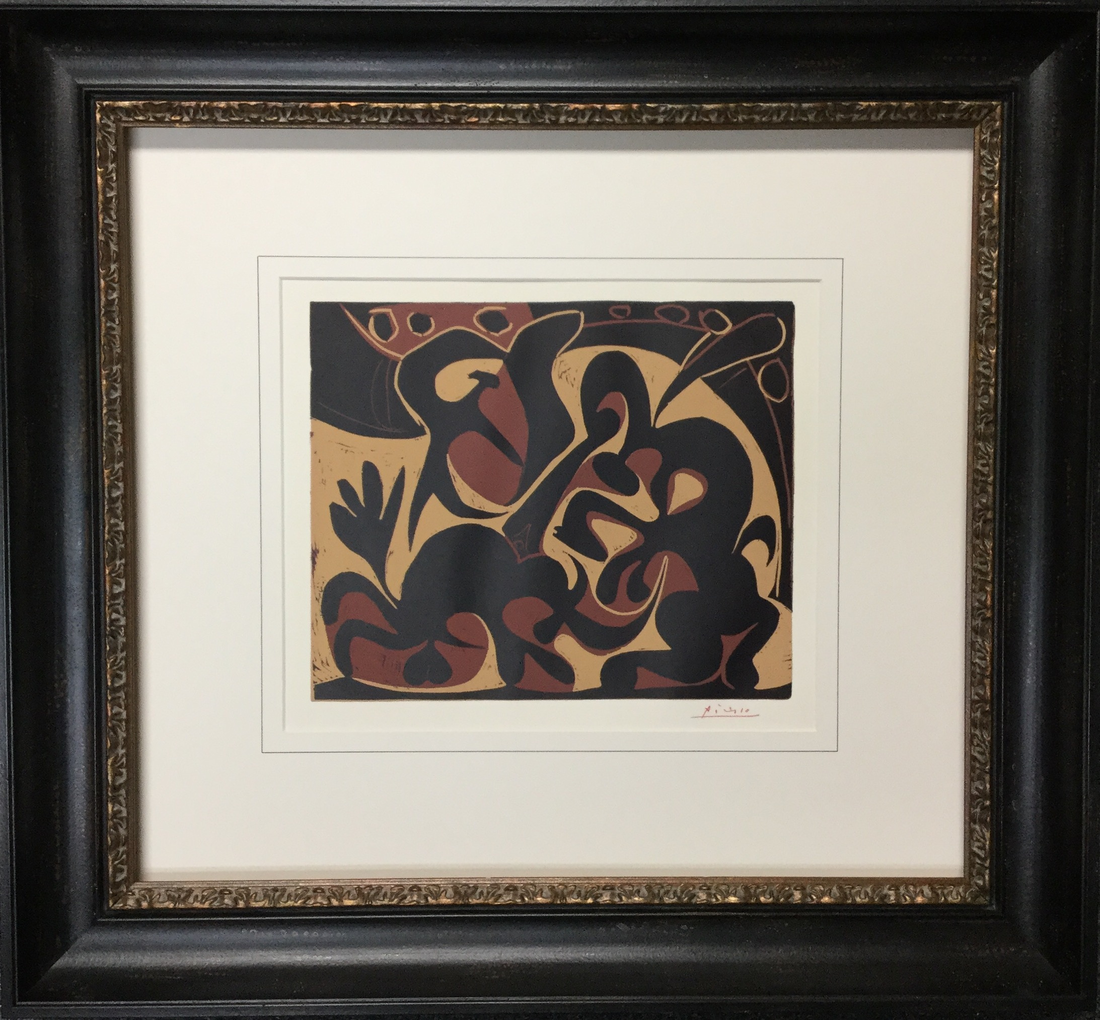 Beautiful french line design for this stunning Picasso print!