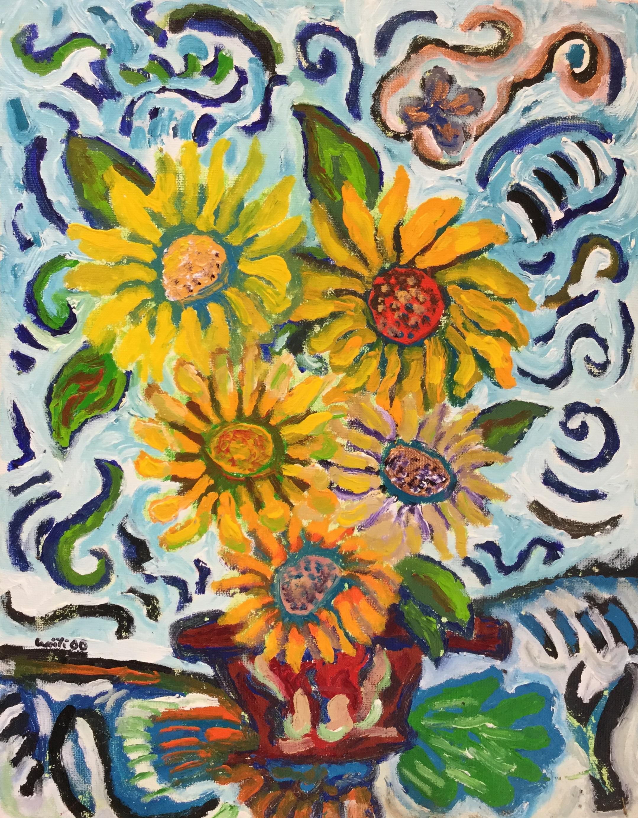 Five Sunflowers *