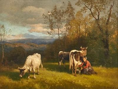 Milking in the Blue Ridge