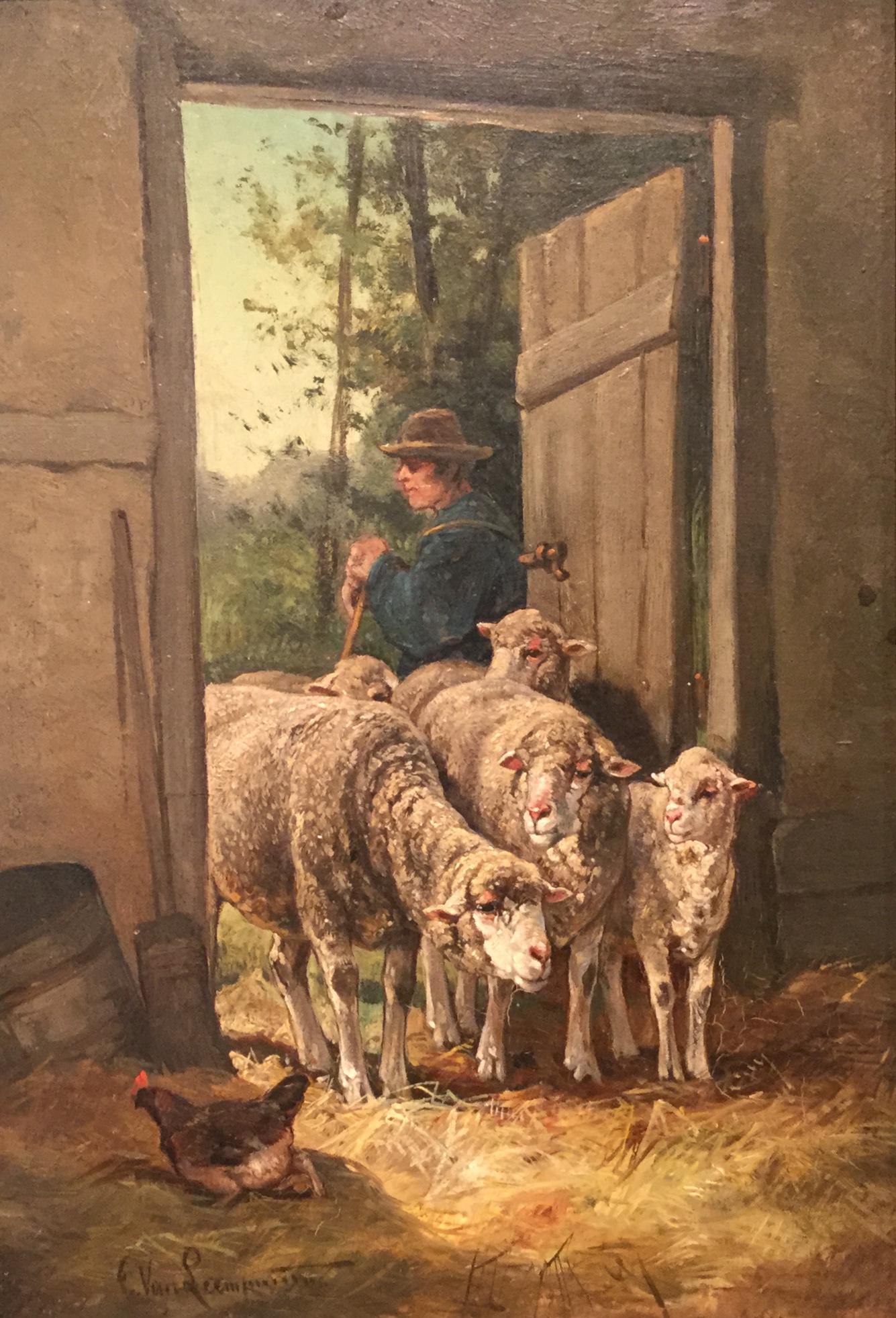 """Sheep at Barn Door"""