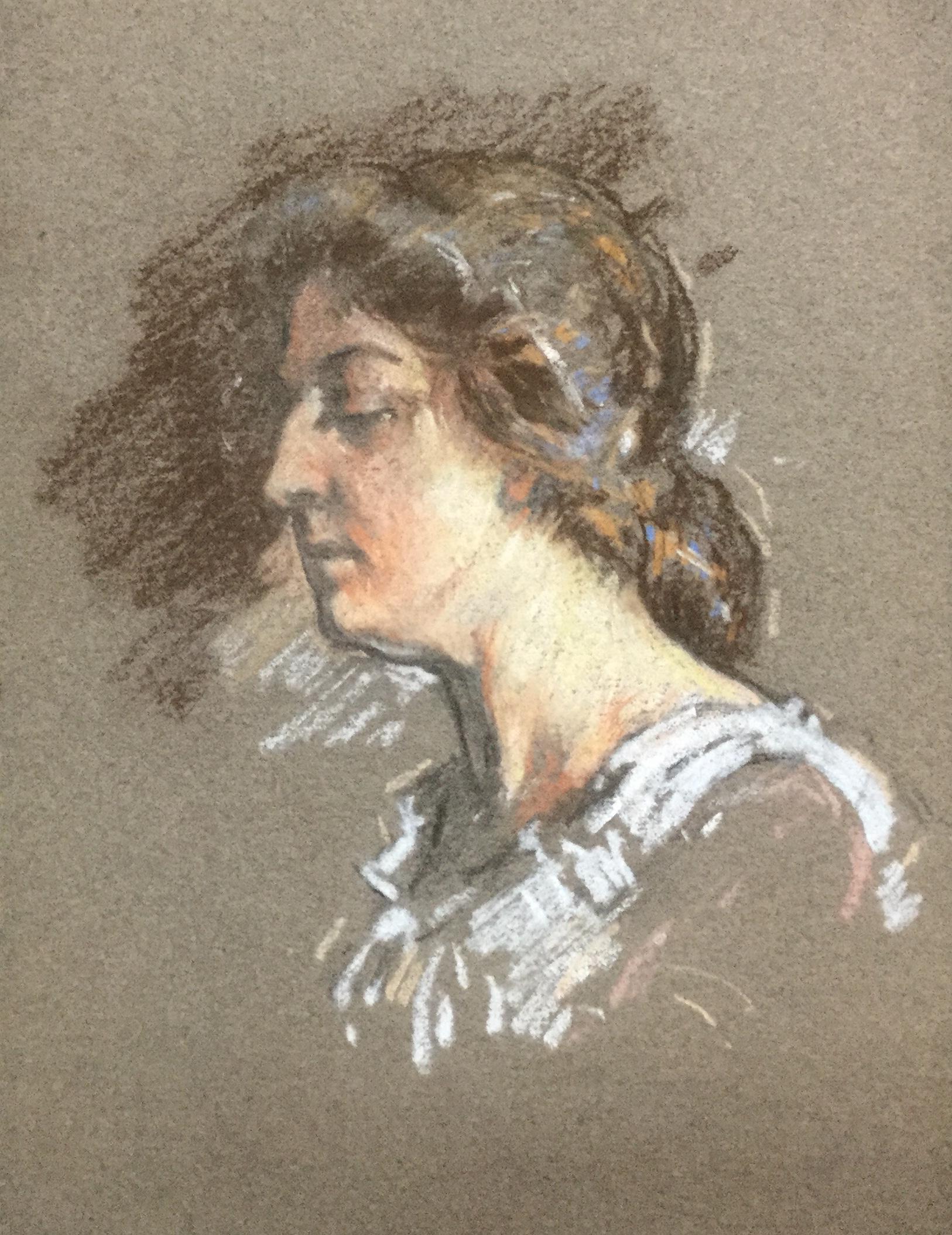 Portrait of Elizabeth Fite, E. Daingerfield's Mother-in-Law