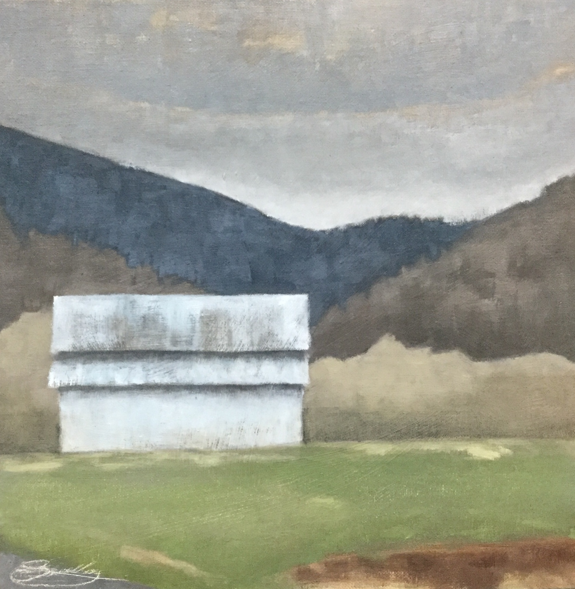 """Clarks Creek Farm""  oil on panel  12"" x 12"""