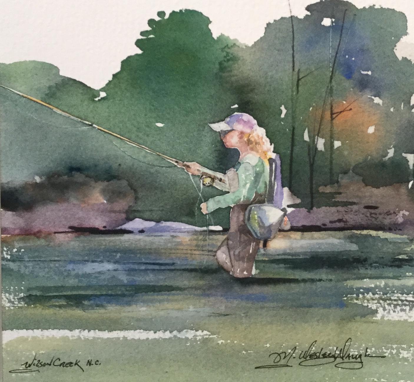 Spring Flyfishing, River Bend Wilson Creek