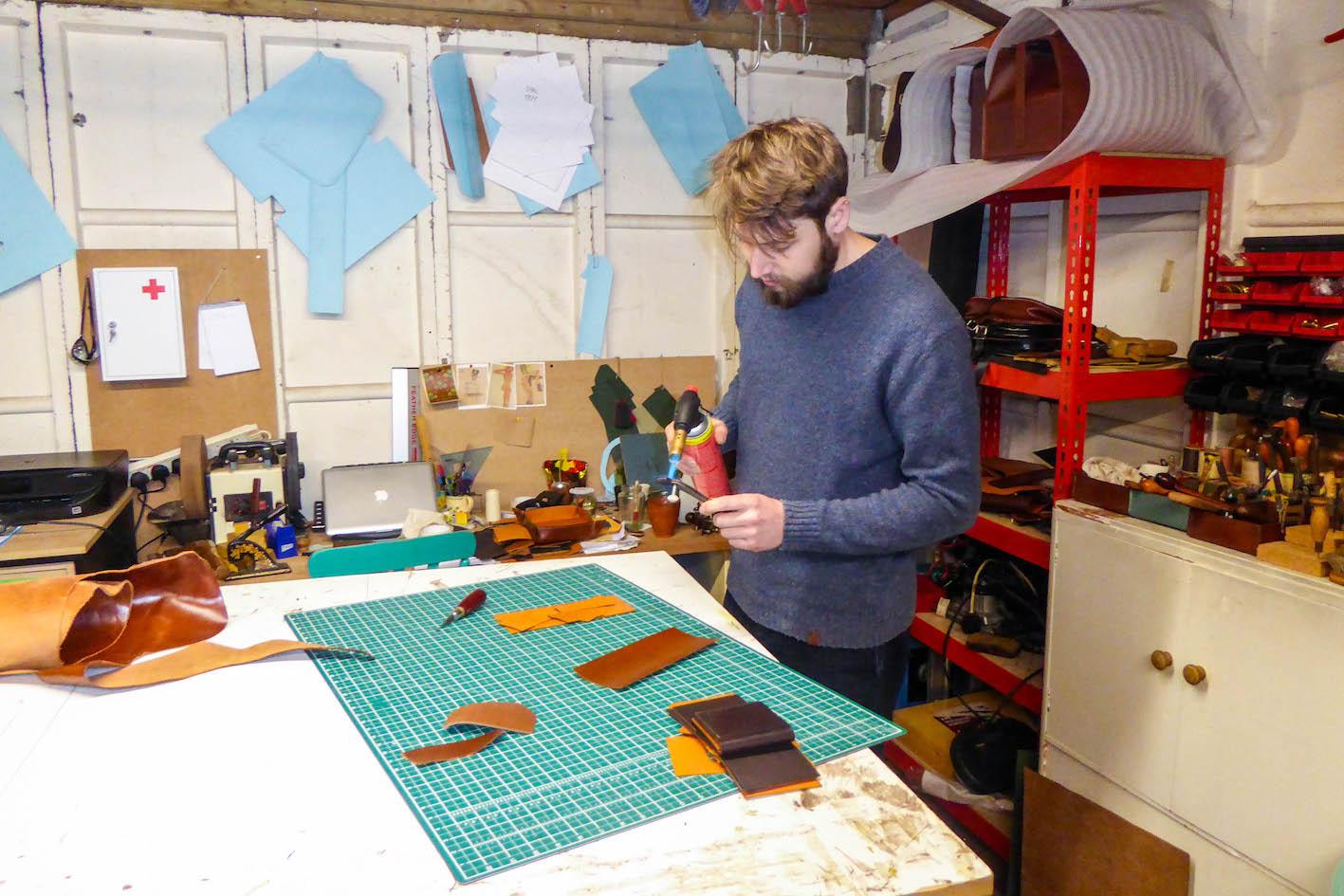Harry Owen in his studio