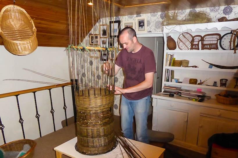 Eamon Tobin in his studio